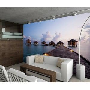 Veľkoformátová tapeta Maldivskej domčeky, 315x232 cm