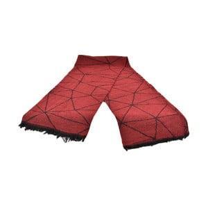 Červený dámsky šál s prímesou bavlny Dolce Bonita Sky Fonce, 170 × 90 cm