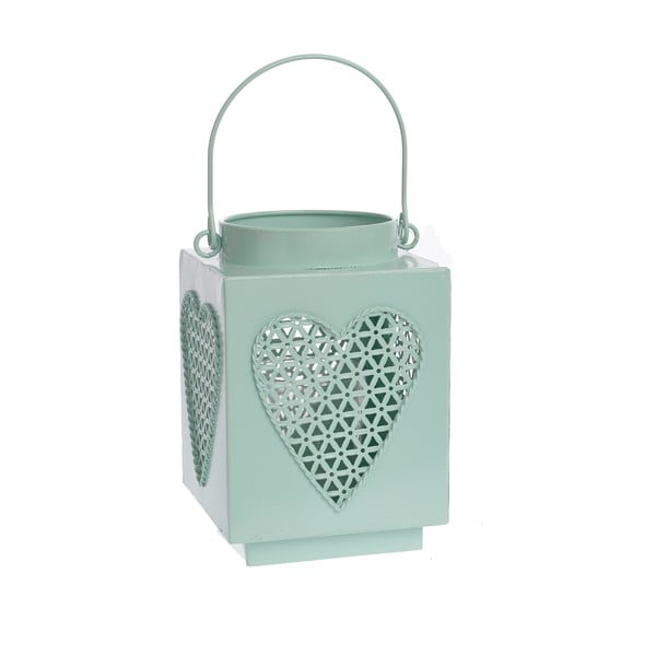 Kovový lampáš Mint Heart