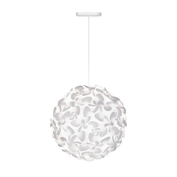 Biele stropné tienidlo VITA Copenhagen Lora, Ø45 cm