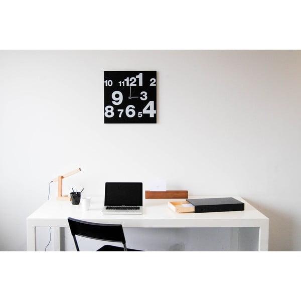Nástenné hodiny dESIGNoBJECT.it Number Line Black, 50 x 50 cm