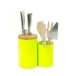 Blok na nože a kuchynské náčinie Knife&Spoon Lime