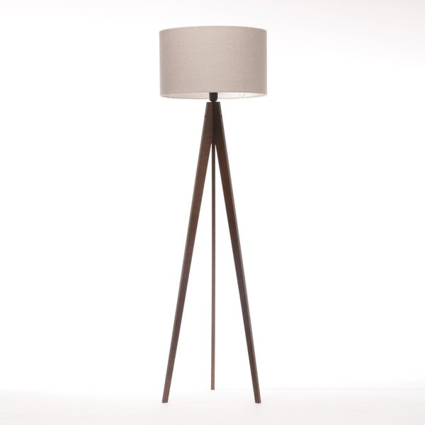 Stojacia lampa Artist Brown Grey Felt/Dark Brown, 125x42 cm