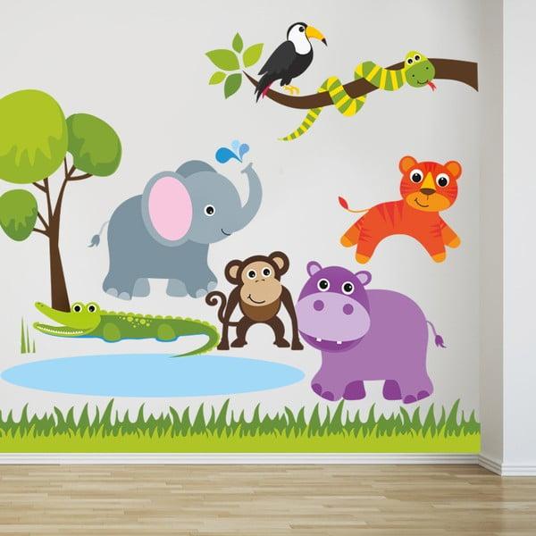 Samolepka na stenu Do savany, 90x60 cm
