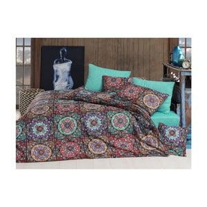 Bavlnené obliečky s plachtou na jednolôžko Indian, 160 × 220 cm