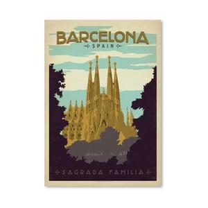 Plagát Americanflat Barcelona, 42 x 30 cm