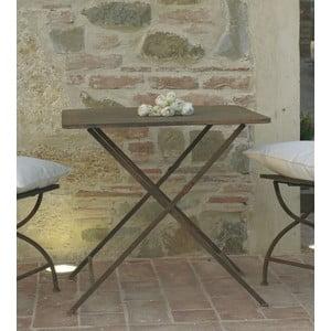 Kovový stolík Garden, hnedý