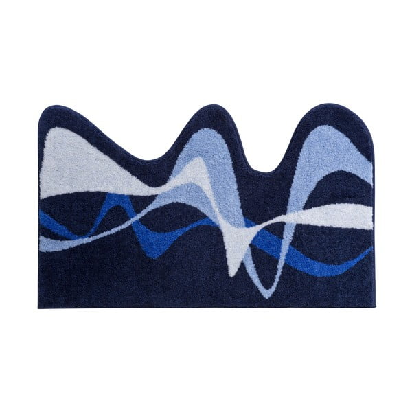 Kúpeľňová predložka Kolor My World XVIII 75x120 cm, modrá