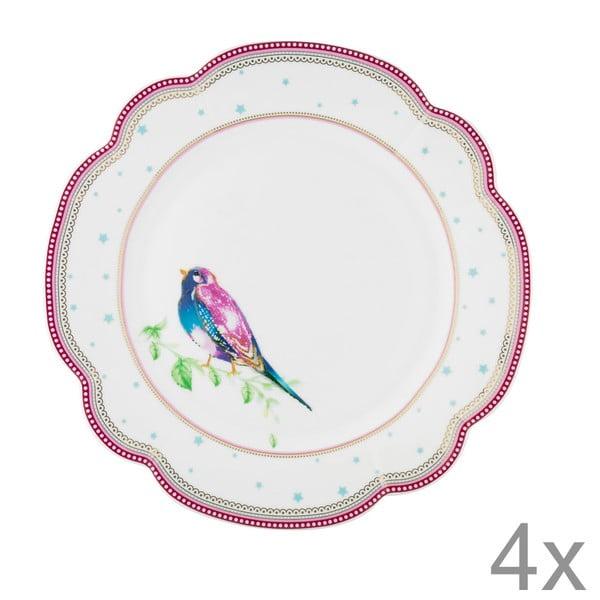Porcelánový tanier  Birdie od Lisbeth Dahl, 24 cm, 4 ks