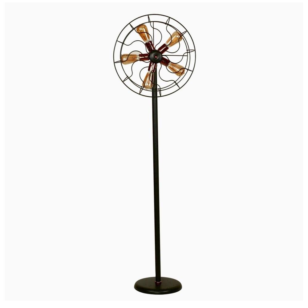 Čierna stojacia lampa Ella, 5 žiaroviek, výška 170 cm