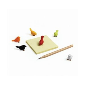 Sada 6 magnetů ve tvaru ptáčka Qualy&CO Mini Sparrow