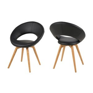 Jedálenská stolička Plump, čierna