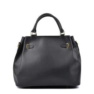 Čierna kožená kabelka Isabella Rhea Lupe