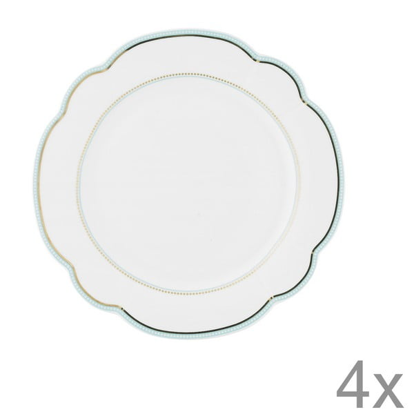 Porcelánový tanier  Continental od Lisbeth Dahl, 19 cm, 4 ks