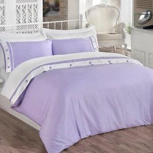 Sada obliečok a prestieradla Simple Purple, 200x220 cm