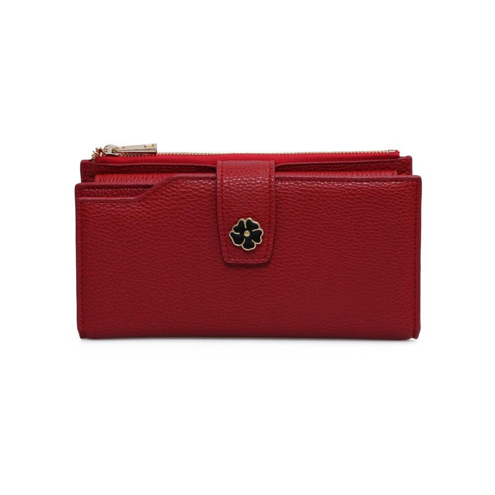 Červená peňaženka z koženky Laura Ashley Redan 22fbd484f65