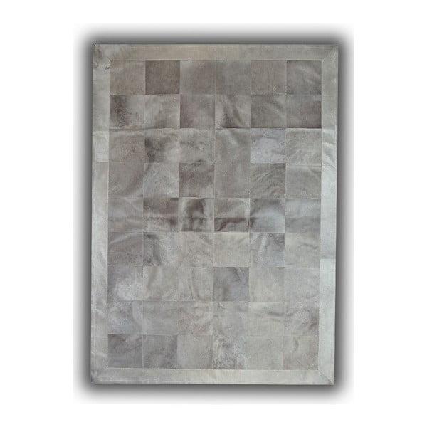 Koberec z pravej kože Light Grey, 140x200 cm
