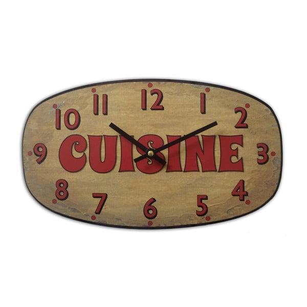 Nástenné hodiny Cuisine Ocre