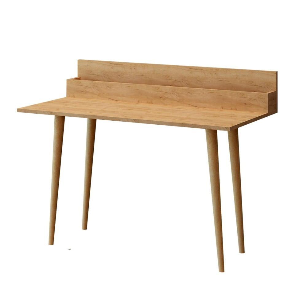 Hnedý pracovný stôl Rammi