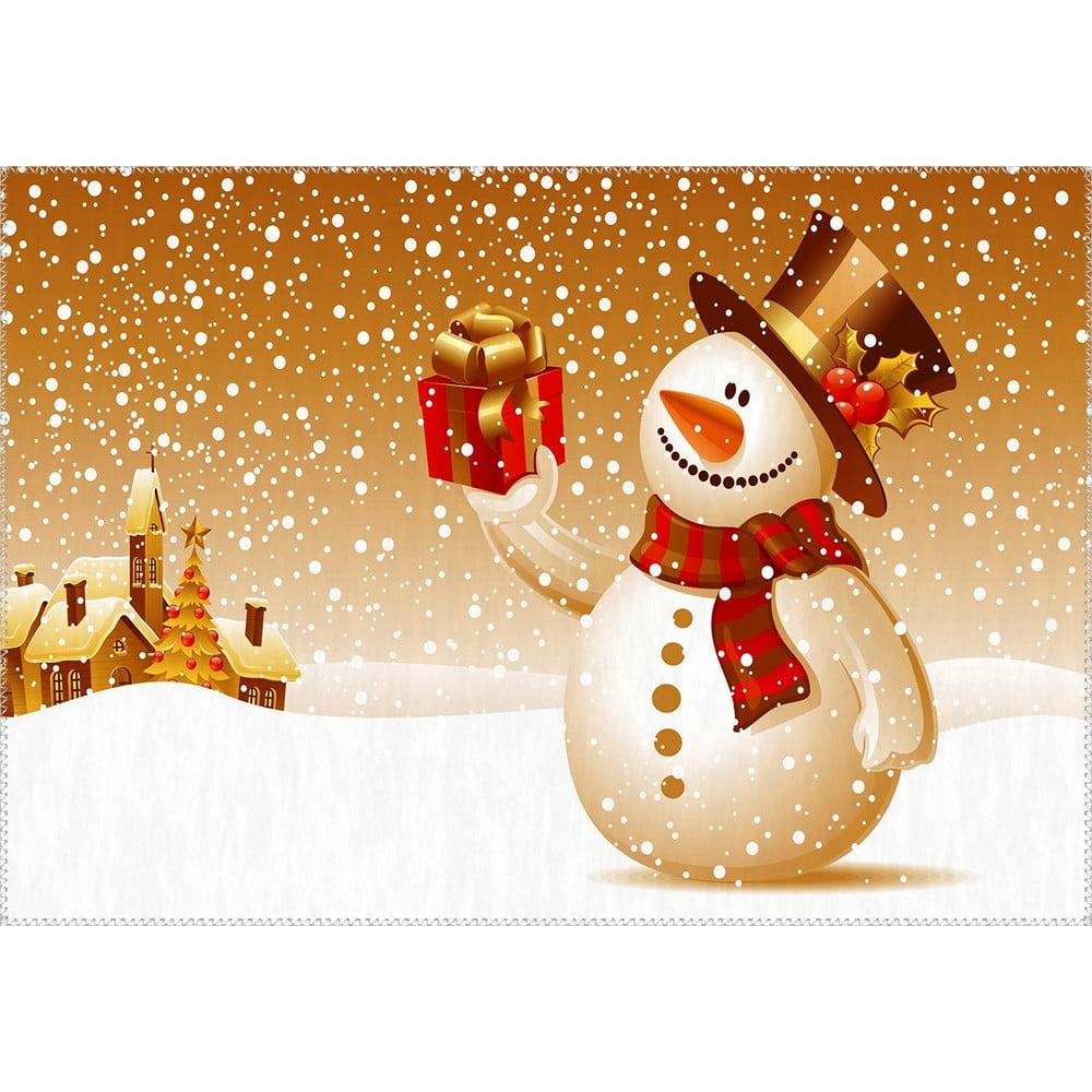 Vianočný snehuliak Koberec Vitaus, 50 x 80 cm