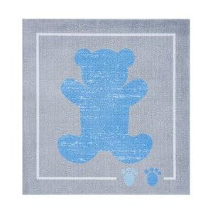 Koberec Kiddy - modrý macko, 100x100 cm