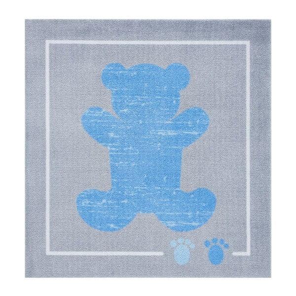 Koberec Kiddy - modrý macko, 100x100cm