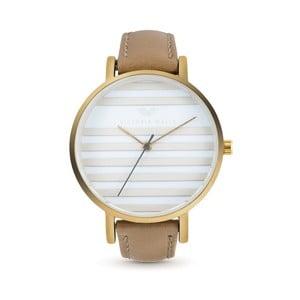 Dámske hodinky s hnedým koženým remienkom Victoria Walls Horizon