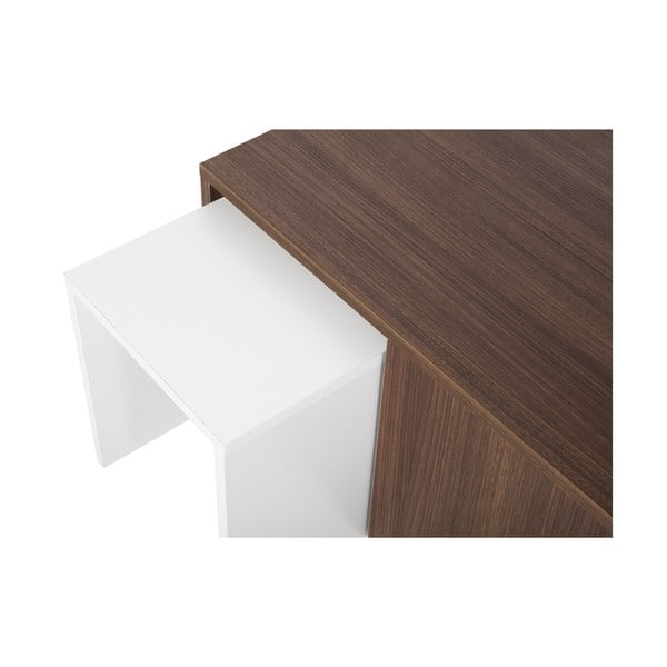 Konferenčný stolík so 4 stoličkami Ortanca Walnut