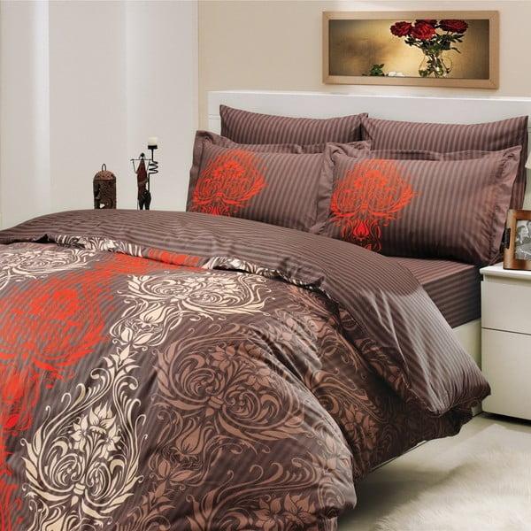 Set obliečok s prestieradlom Royal Brown, 200x220 cm