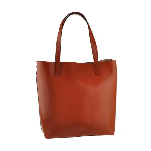 Medovohnedá kožená kabelka Florence Tangor