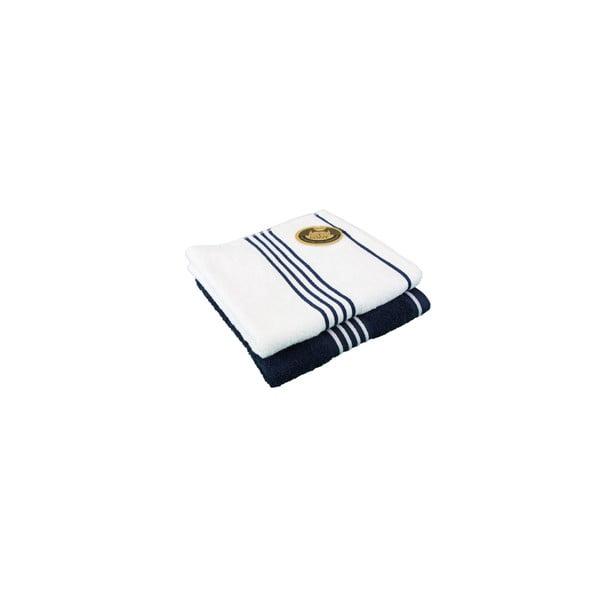 Sada 2 osušiek Rio Navy Blue/White, 50x100 cm