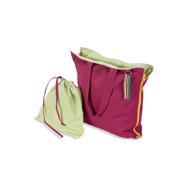 Skladací sedák Hhooboz 100x50 cm, ružový