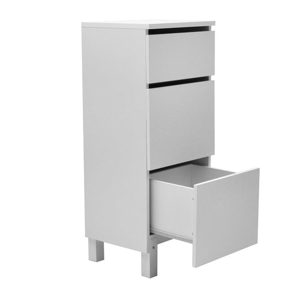 Biele kancelárske zásuvky RGE Box 95x39cm