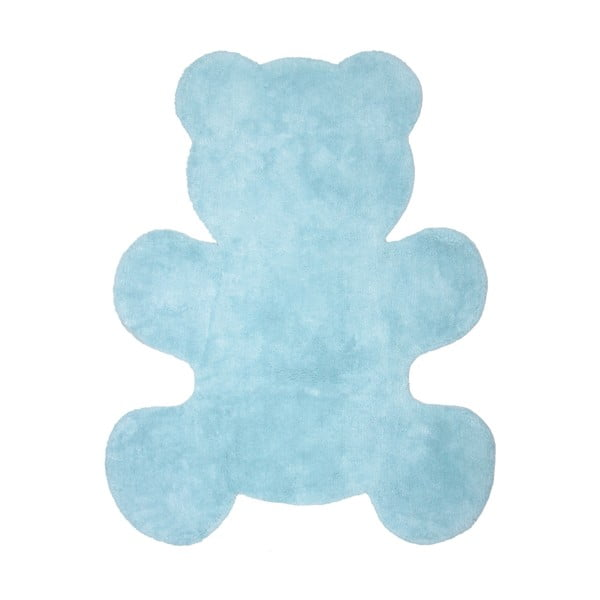 Detský modrý koberec Nattiot Little Teddy, 80x100cm