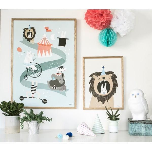 Plagát Michelle Carlslund Lion & Bunny, 30x40cm