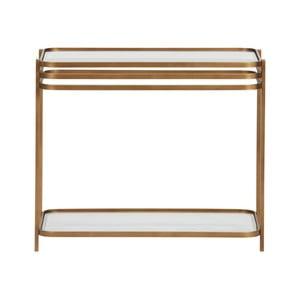 Kovový konferenčný stolík v zlatej farbe WOOOD Kylie