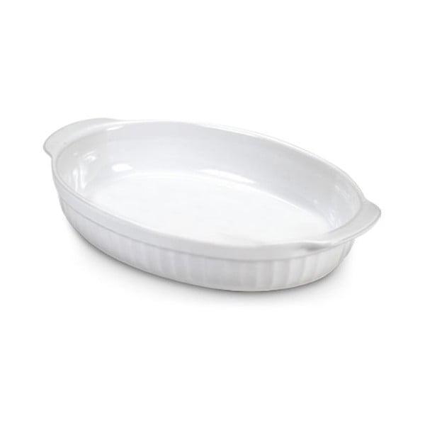 Zapekacia miska Oval White