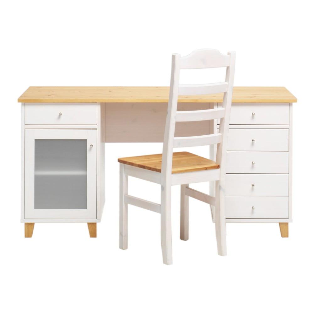 Pracovný stôl z borovicového dreva Askala Scala