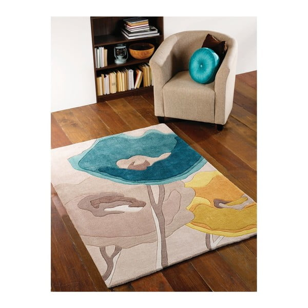 Koberec Flair Rugs Poppy Teal, 170 x 120 cm