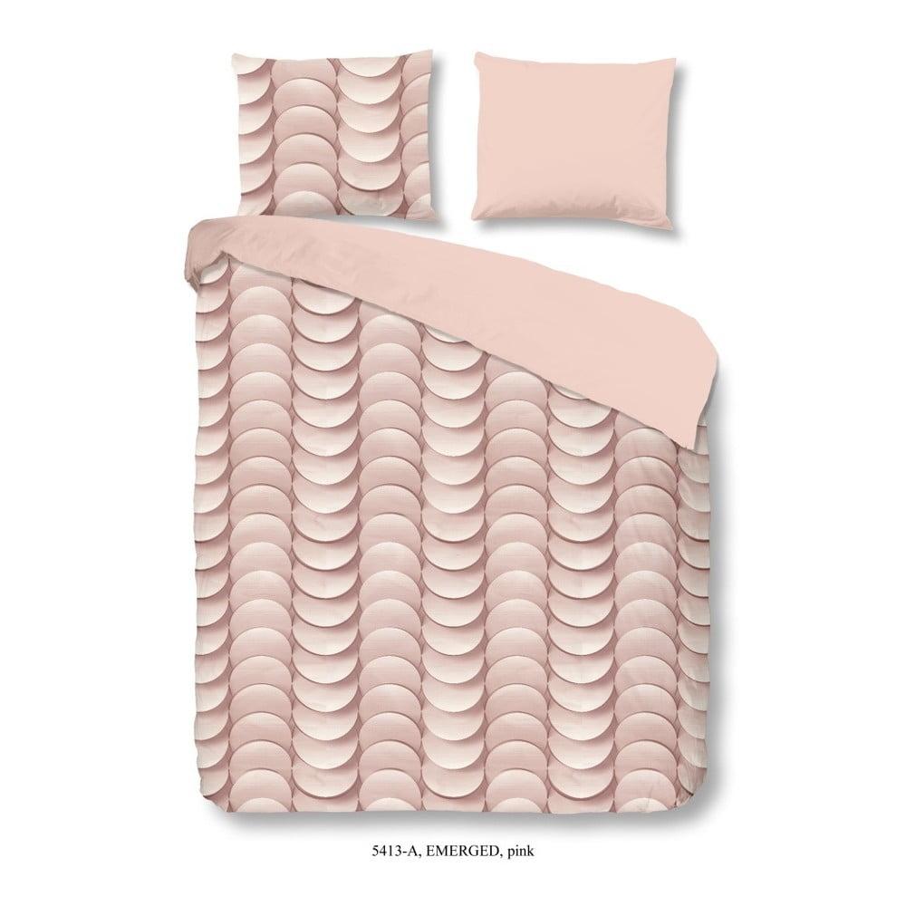 Ružové bavlnené obliečky Müller Textiel Emerged, 135 x 200 cm