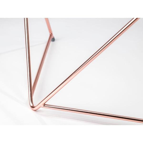 Dve kovové nohy stolu Diamond Coffee Copper
