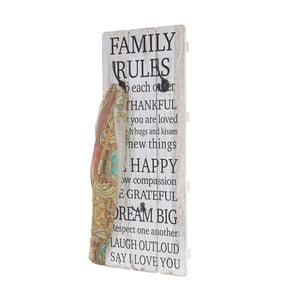 Nástenný vešiak Mendler Shabby Family Rules