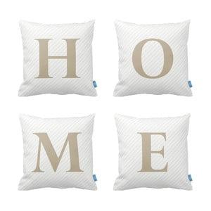 Sada 4 vankúšov Homemania Home, 43×43 cm