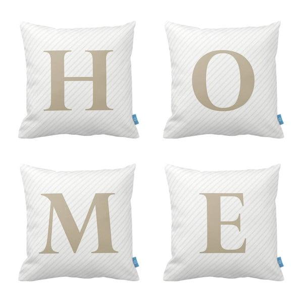 Sada 4 vankúšov Homemania Home, 43 x 43 cm