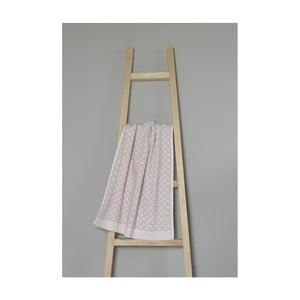 Svetloružový bavlnený uterák My Home Plus Spa, 50×70 cm