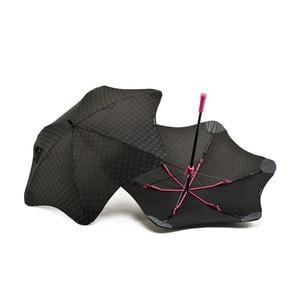Vysoko odolný dáždnik Blunt Mini+ s reflexnným poťahom, ružový