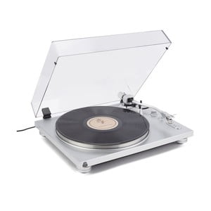 Gramofón v striebornej farbe GPO PR 100