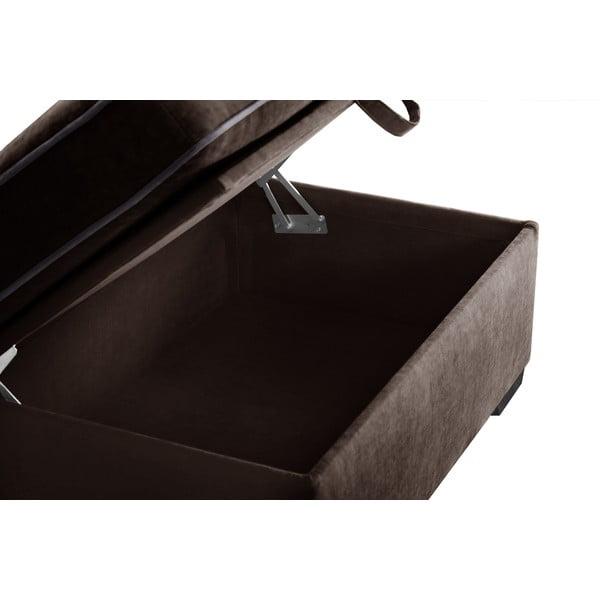Trojdielna sedacia súprava Jalouse Maison Serena, čokoládová