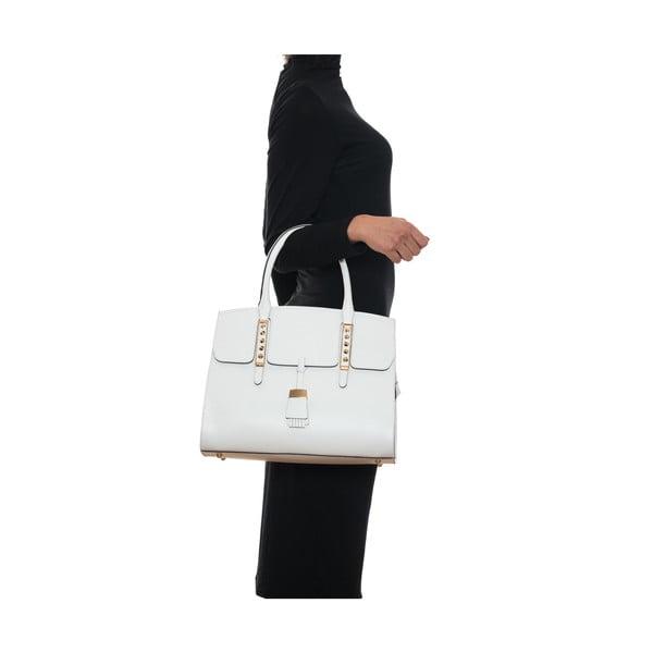 Kožená kabelka Renata Corsi 432, biela