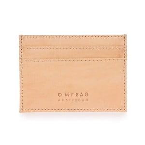 Béžové kožené puzdro na karty a vizitky O My Bag Mark´s